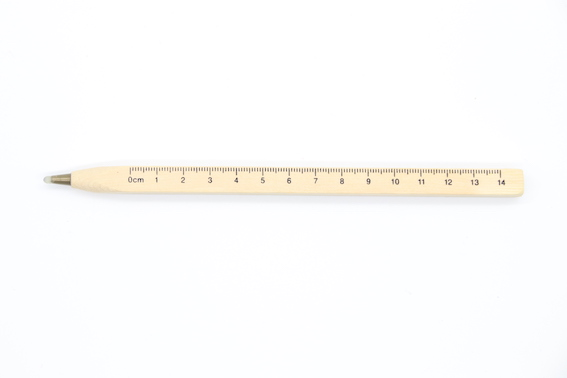 PN1071 Wooden Ball Pen With ruler scale