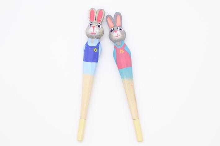 PN1065 Rabbit Wood Ball pen