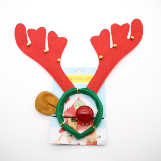 HPCM2005 Headband Chrismas Costume Party Antler with Bell