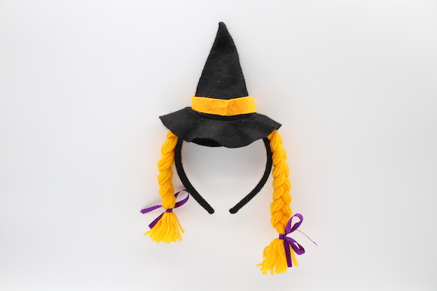 HPCM200103 Headband Halloween Saint\'s Costume Party Hat with yellow hair
