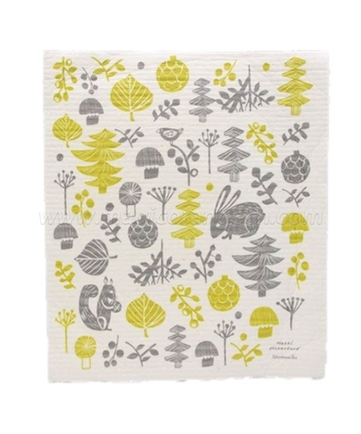 DC1008 Wash Absorbing Dish Cloth color printing large size