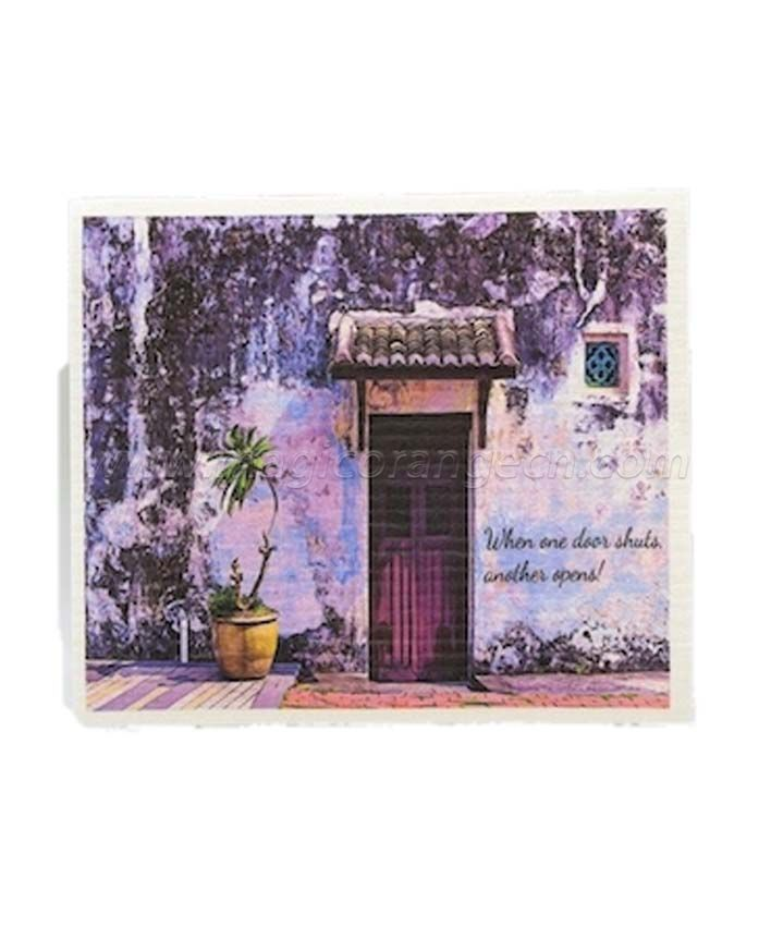 DC1004 Biodegradable Cellulose Wood Pulp Dishcloth with gradient color