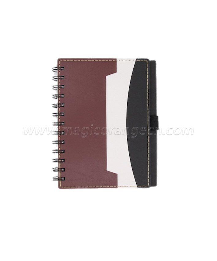 BK1018 Half PU Cover spiral notebook