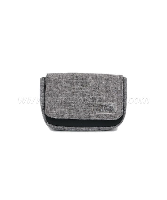 BG2013 Grey Imitation Linen Fabric Flap Bag Storage Bag Small size