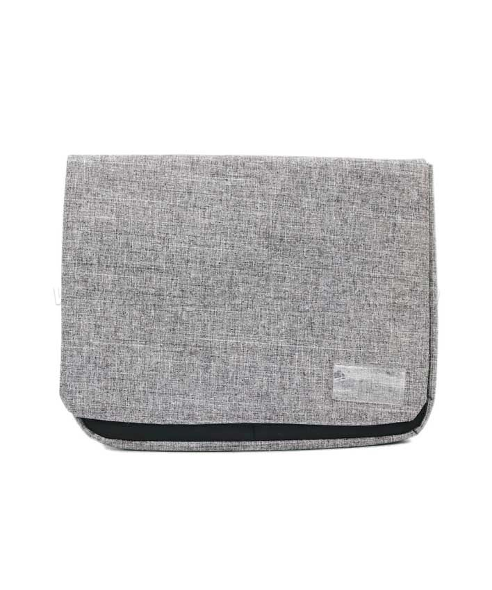 BG2014 Grey Imitation Linen Fabric Flap Bag Storage Bag Large size