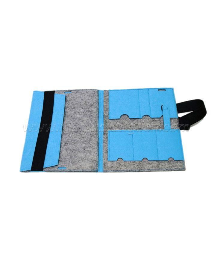 FP1004 Blue and Grey Felt Folder Bag