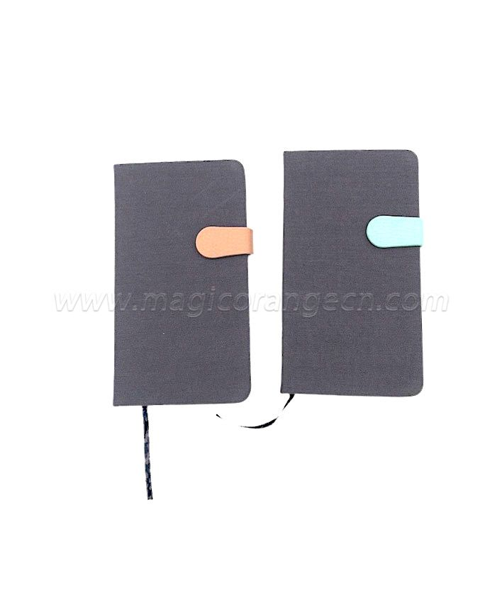 BK2002 notebook dairy cotton cover with PU buckle