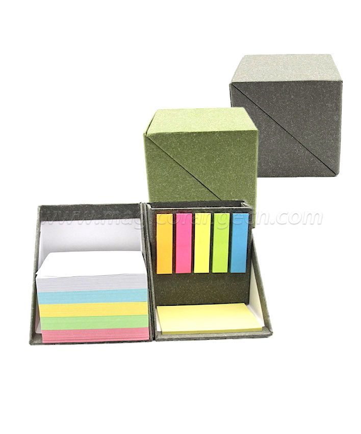 BK1034 Customized and Memo Pads Style Folding Cube Box Sticky Note Sets