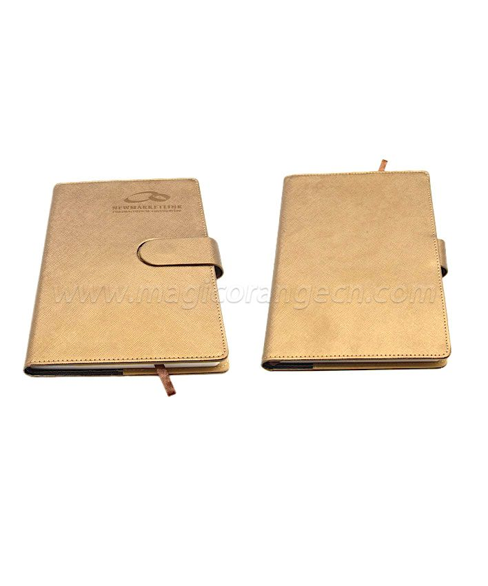 BK1012 Light Brown PU NoteBook