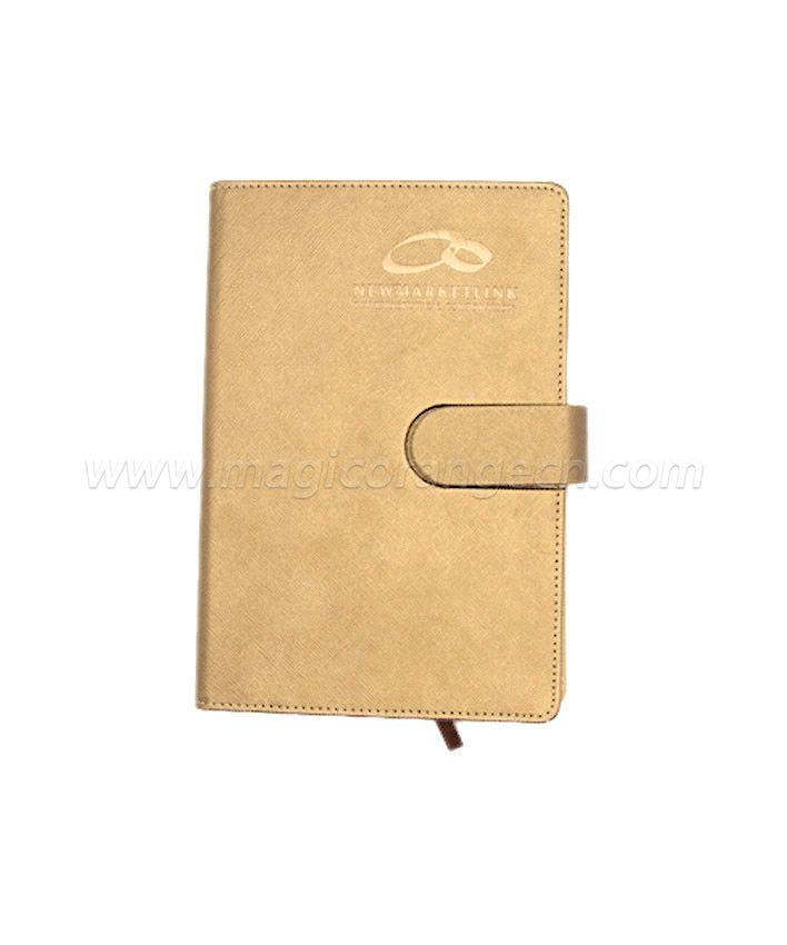 BK1012 Light Brown PU NoteBook