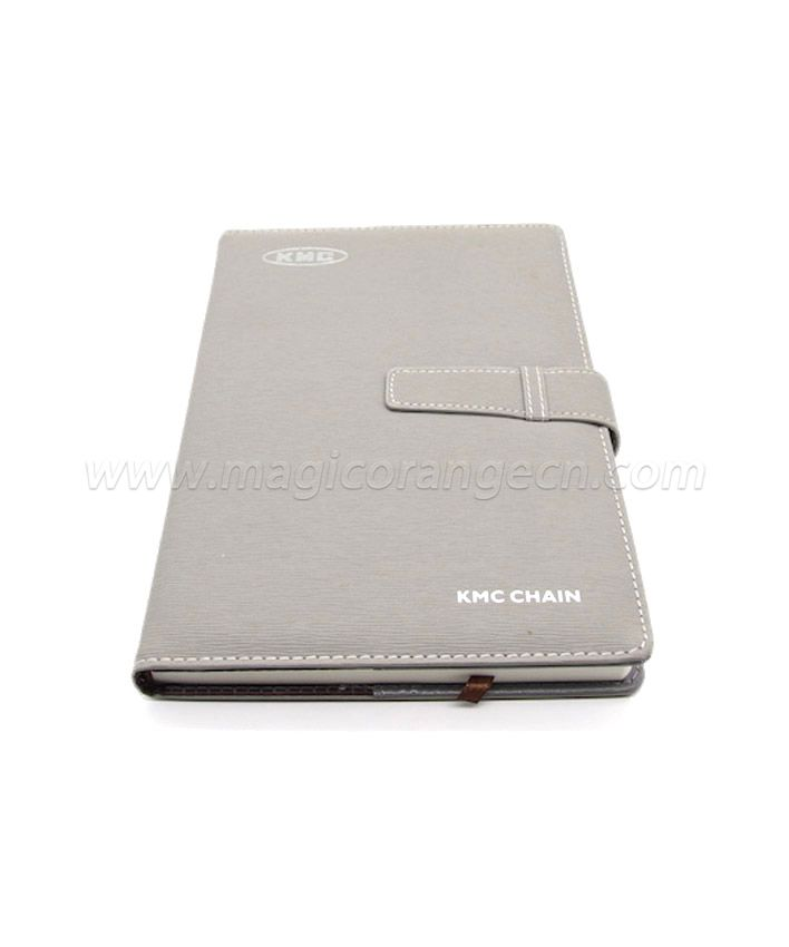 BK1015 Grey PU Meeting Book