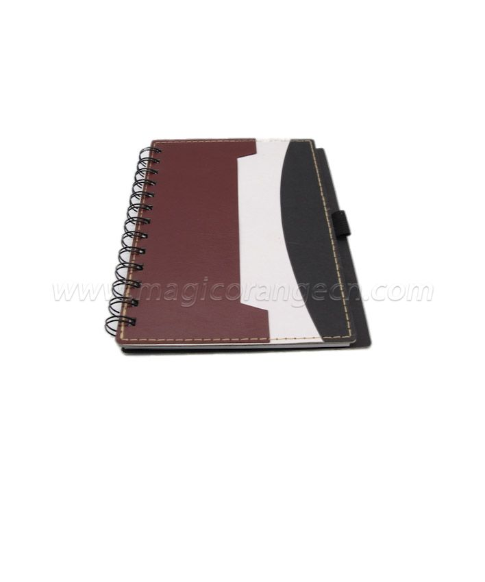 BK1018 Half PU Cover spiral notebook