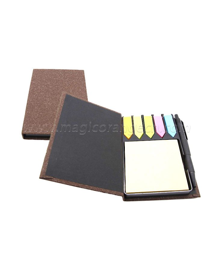 BK1027 Sticky Memo Box with Pen