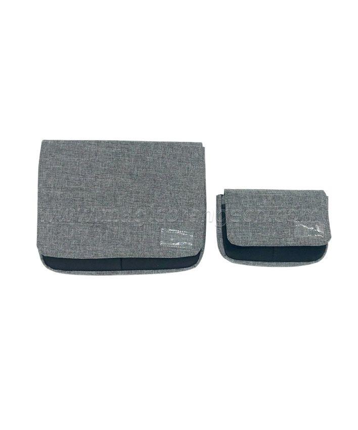 BG2013 Grey Imitation Linen Fabric Flap Bag Storage Bag Small size