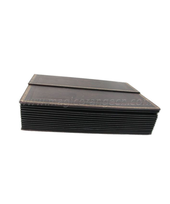EX1002 100% Recycled Brown Expanding File Magnet Closure