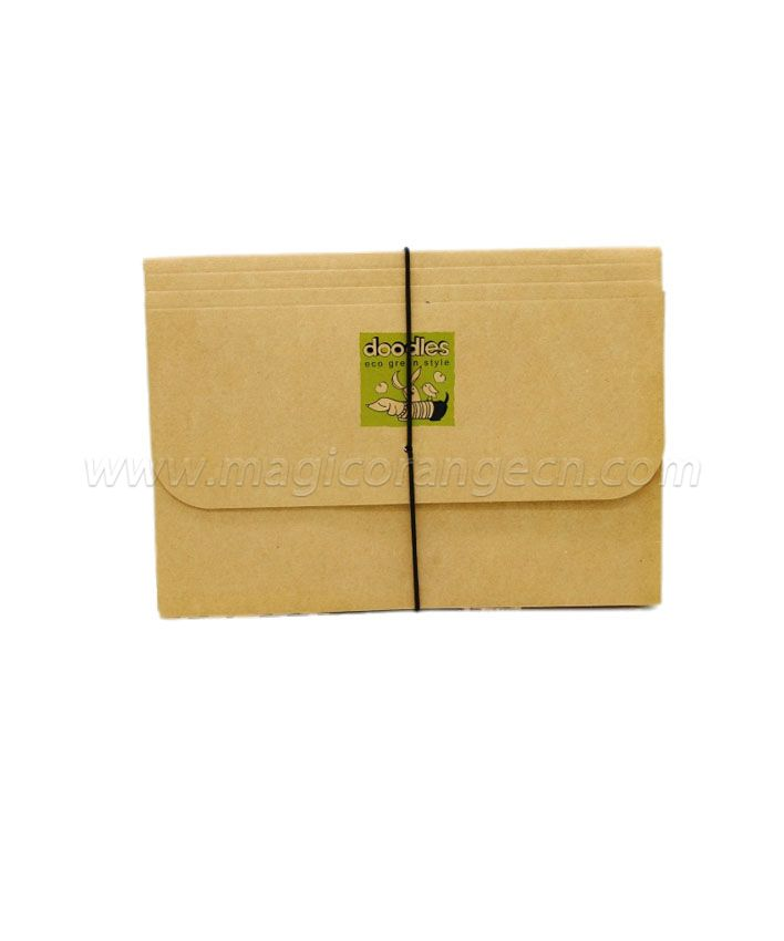 FP1001 100% Recycled Kraft Expanding File Black Cord Closure