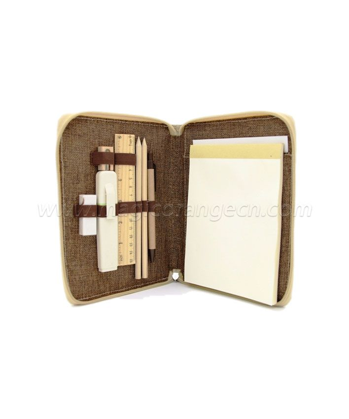 PB1004 Jute Pen Bag Nature color PU marker Multi-function