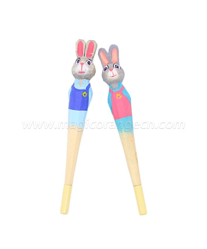 PN1065 Rabbit Wood Ball pen