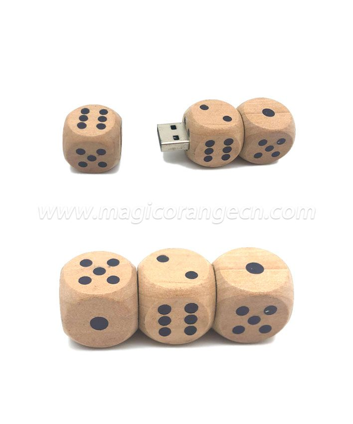 TL1011 Wooden Dice USB