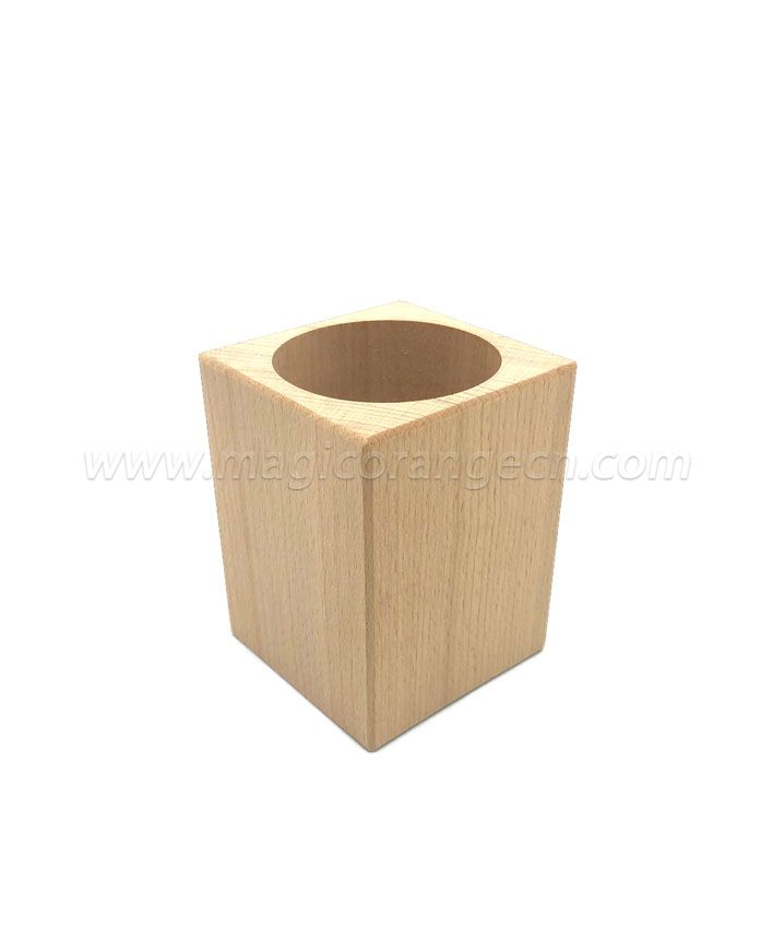 TL1003 Wooden pen holder natural color