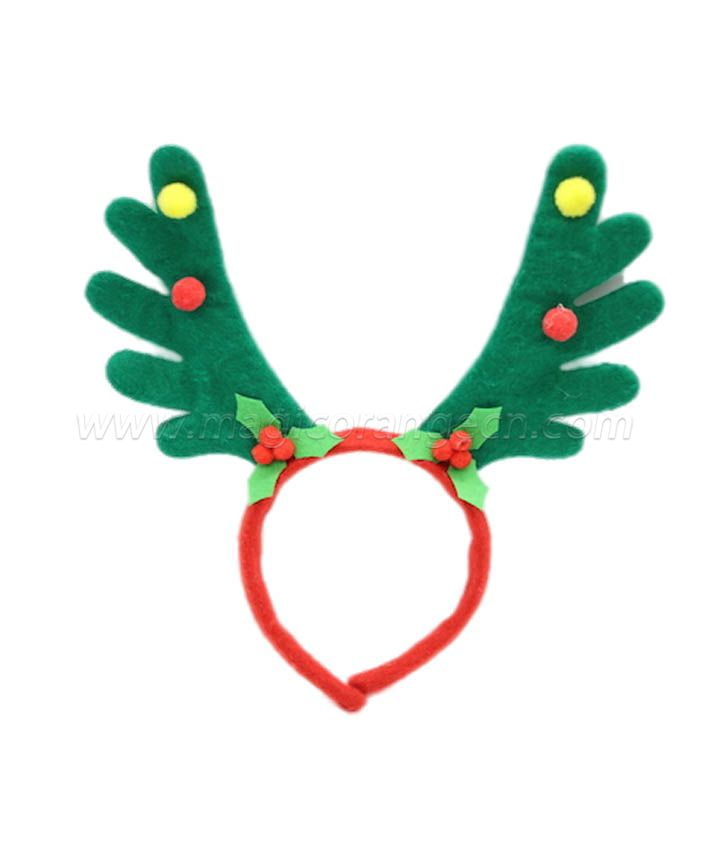 HPCM200405 Chrismas Headband Costume Party Green Antler Shape