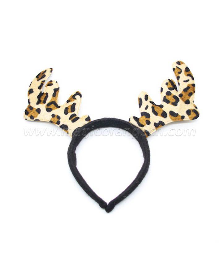 HPCM200404 Chrismas Headband Costume Party Leopard print Antler Shape