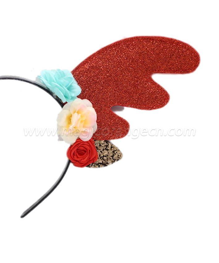 HPCM200401 Chrismas Headband Costume Party Glitter Antler Shape