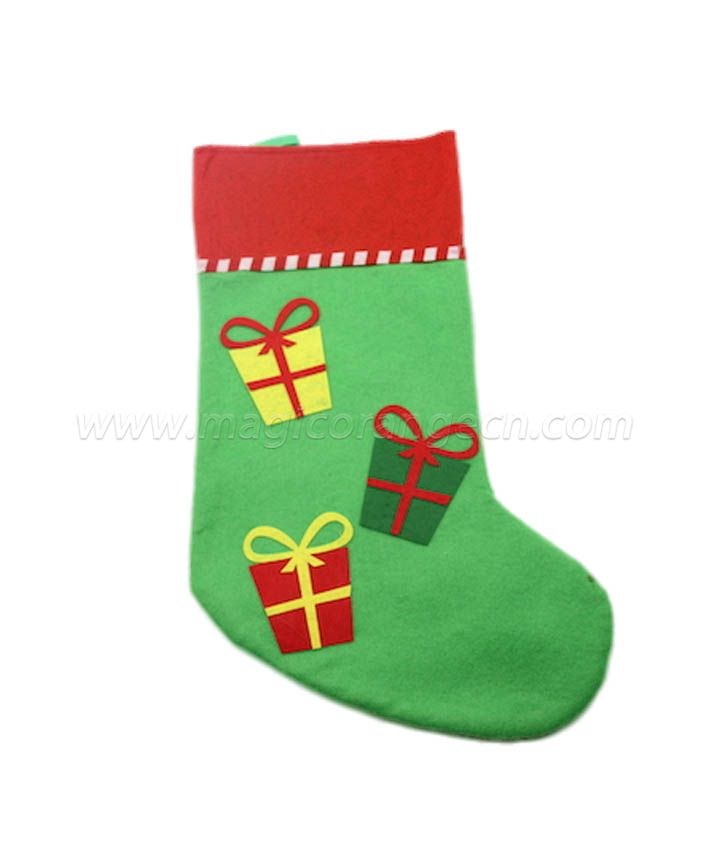 HPCM1004 Green Christmas stocking with different characters