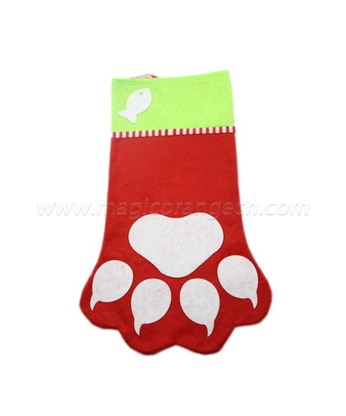 HPCM1006 Christmas Stockings Pet Paw Christmas Stocking Hanging Christmas Decoration Stocking
