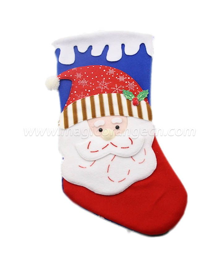HPCM1009 Felt with Polyester filled Christmas Stockings Ornament Family Decorations