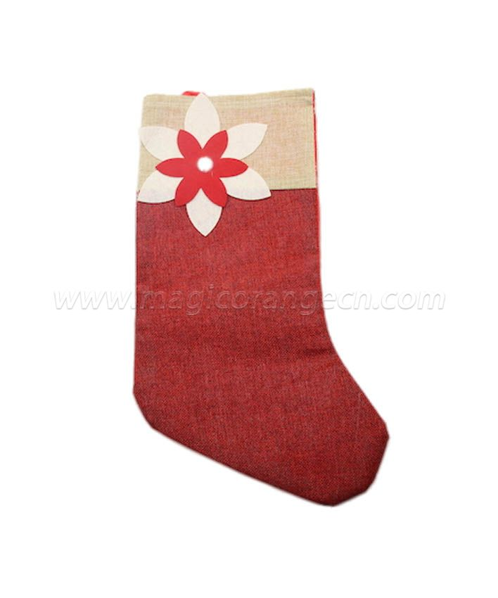 HPCM1007 Linen and Felt Christmas Stockings Ornament Family Decorations