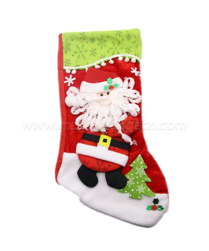 HPCM1010 Flannelette Christmas Stockings Ornament Family Decorations