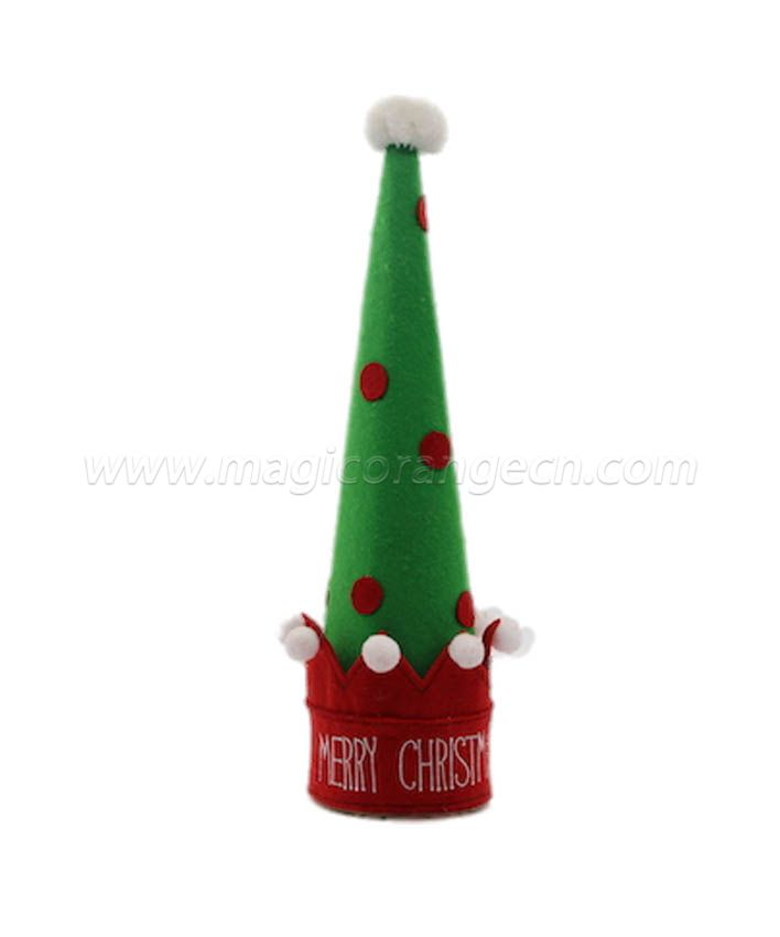 HPCM1013 Cute Christmas Hat Green and Red Felt material