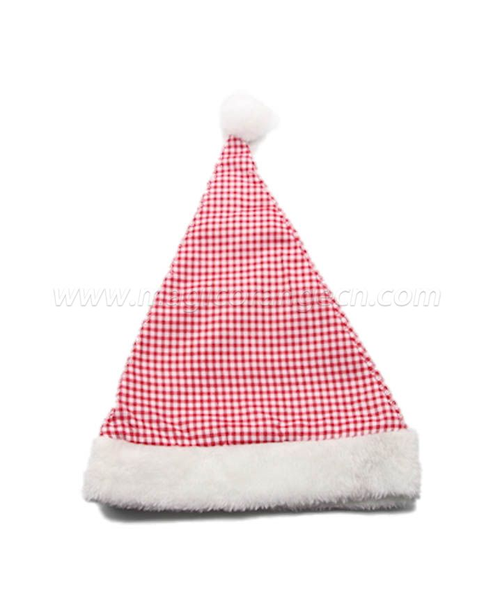 HPCM1016 Christmas Hat white and red chambray