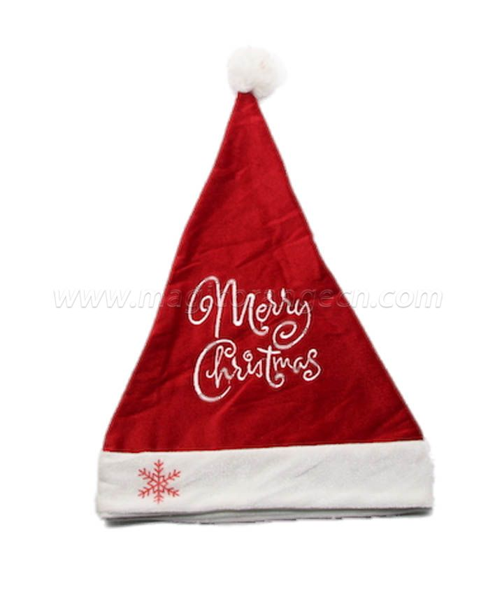 HPCM1021 Christmas Hat with Merry Chrismas word on front