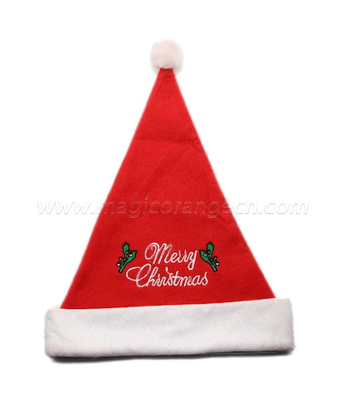HPCM1022 Christmas Hat with Merry Chrismas word green butterfly on front