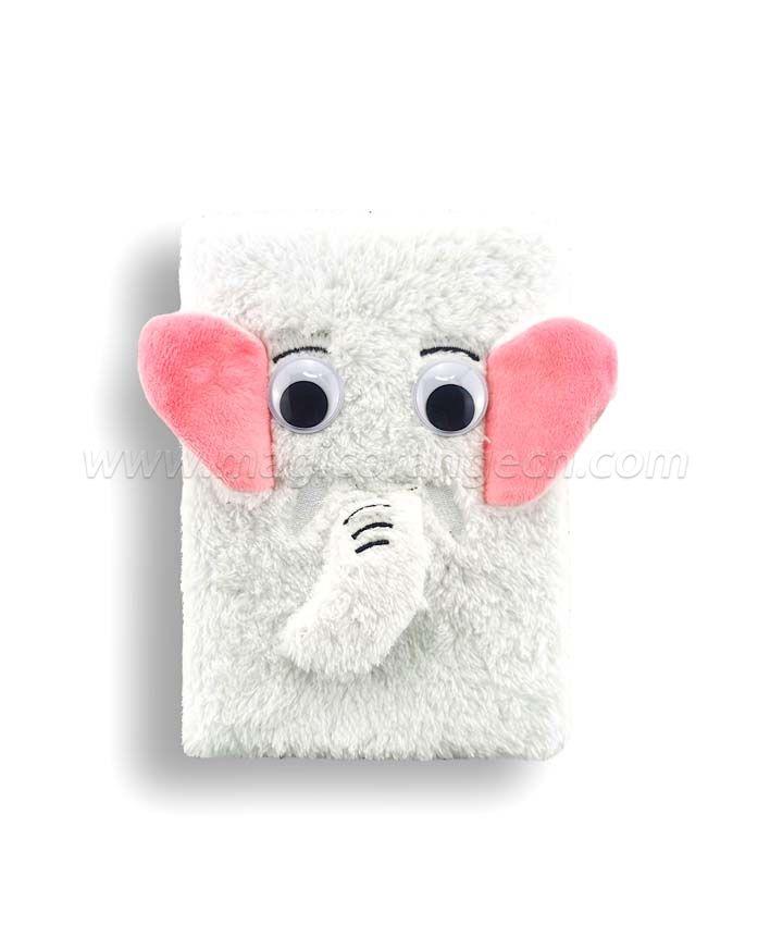 BK1046 Big eye Elephant small plush series notebook