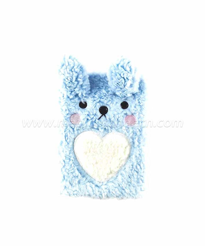 BK1056 Rabbit and Bear Plush Notebook B6 Size