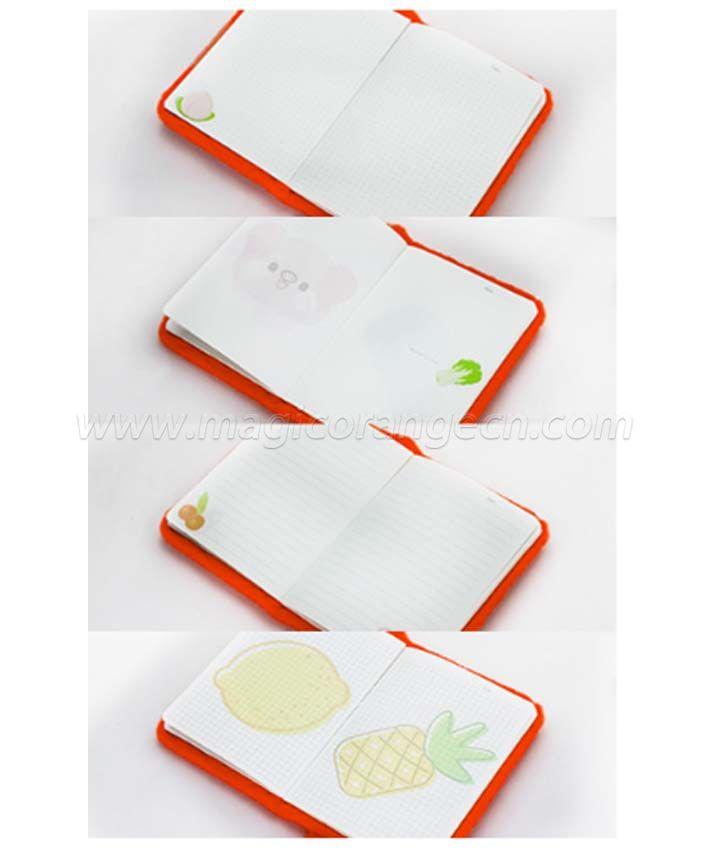 BK1055 Sun and Pan fried egg Plush Notebook, B6 Size