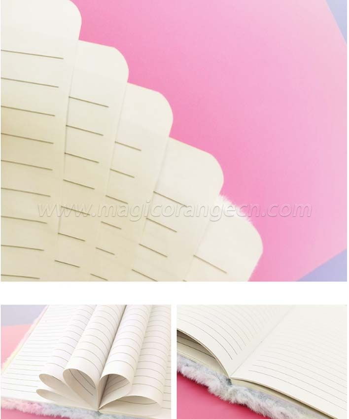 BK1054 Plush Notebook Nordic style assorted colors