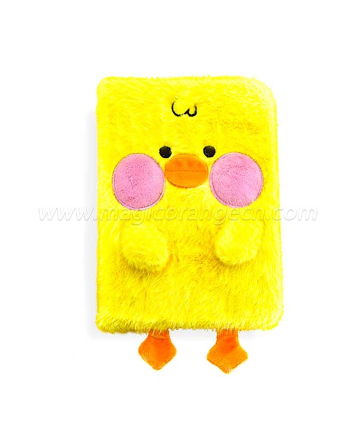 BK1051 Cute Duck Plush notebook Yellow color B6 size
