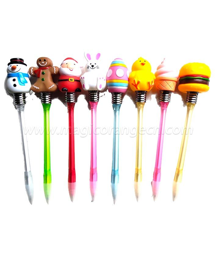 PN1298 Easter Flashing Light Pen different holiday designs