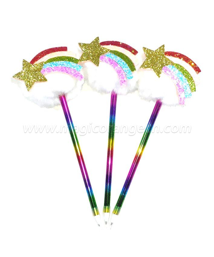 PN1299 Gift Pen White Fluffy Ball Pen with Rainbow for Party Supplies