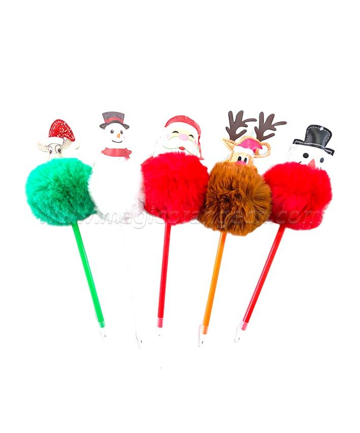 PN1301 Gift Pen Colorful Fluffy Ball Pen for Chrismas Party Supplies