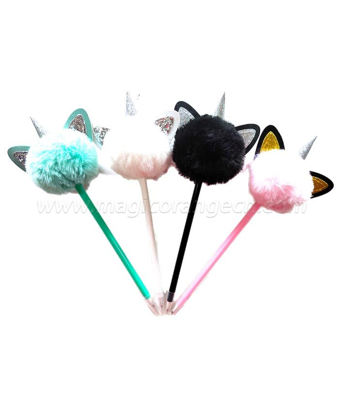PN1303 Unicorn gift Pen Colorful Fluffy Ball Pen for Party Supplies