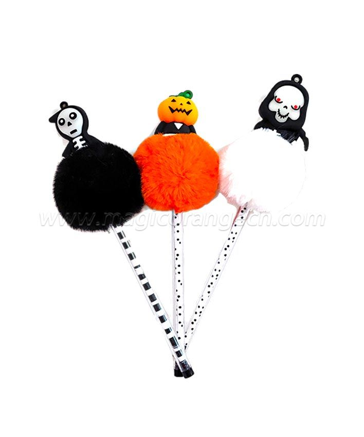 PN1306 gift Pen Colorful Fluffy Ball Pen for Halloween Party Supplies
