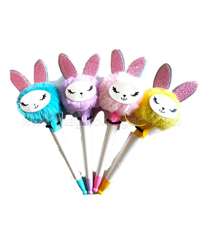 PN1307 gift Pen Colorful Fluffy Ball Pen for Easter