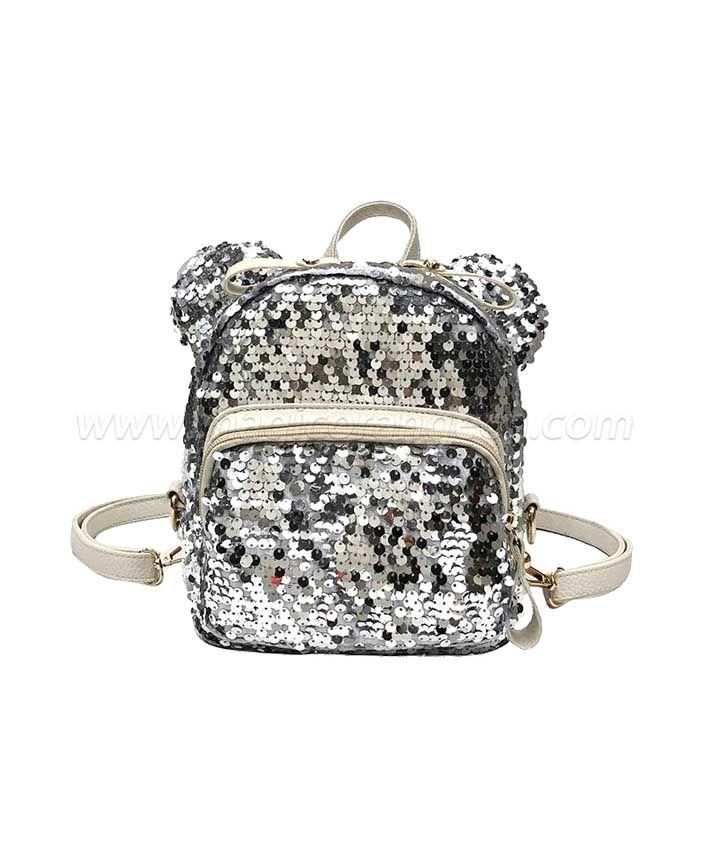 BG2023 Mini Backpack PVC Shoulder Bag Spangle decoration