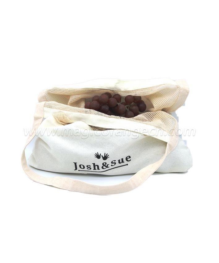 BG2032 Cotton mesh bag with bottom long handle