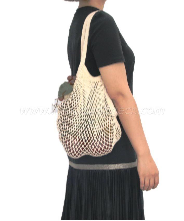 BG2035 Cotton mesh bag long handle